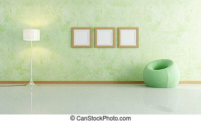 green velvet fashion armchair