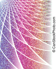 Pink and iridescent techno background - Pink techno...