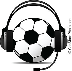 Football Soccer Podcast Vector - A football soccer wearing a...