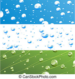 waterdrops - vector illustration of variations of water...
