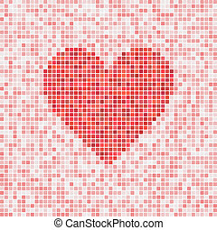 Heart vector mosaic - Beautiful heart vector mosaic for...