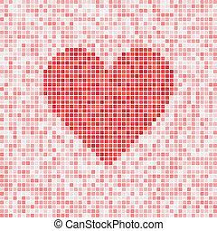 Heart vector mosaic - Beautiful heart vector mosaic for...