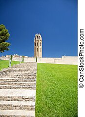 stairs to Lleida cathedral