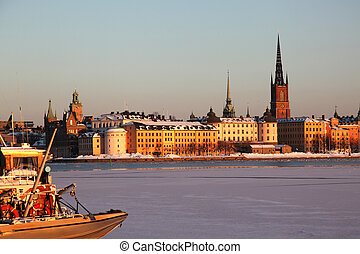 Island Riddarholmen Stockholm - view at the island...
