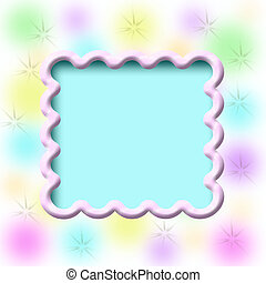 dreamy scrapbook frame - dreamy pastel blurs on scrapbook...