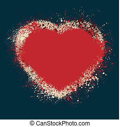 Vintage heart shaped color inks