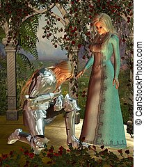 Sir Launcelot and Queen Guinevere - Sir Launcelot Lancelot...