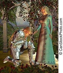 Sir Launcelot and Queen Guinevere - Sir Launcelot (Lancelot)...
