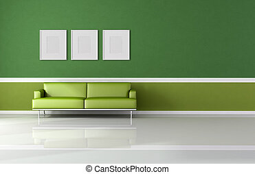 modern and classic green living room