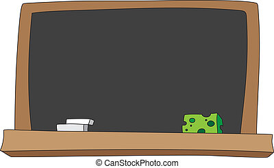 blackboard - illustration of a school blackboard