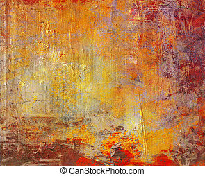 ambient canvas grunge - hand painted background grunge on...