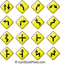 Arrow Road Sign - Glossy Road sign set 1 of 8.