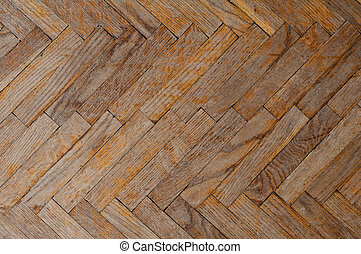 Background of old parquet - Background with old parquet in...