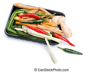 蔬菜, 籃子, 白色