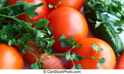 Fresh vegetables - Vitamin collection of vegetables tomatoes...