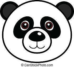 Cute Panda Vector - Cute animal faces in One of 25 of them...