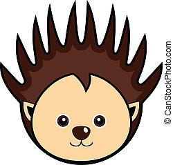Cute Porcupine Vector - Cute animal faces in One of 25 of...
