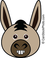 Cute Donkey Vector - Cute animal faces in One of 25 of them...