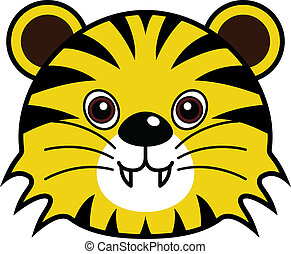 Cute Tiger Vector - Cute animal faces in One of 25 of them...