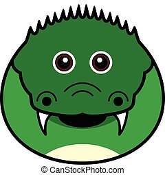 Cute Crocodile Vector - Cute animal faces in (One of 25 of...