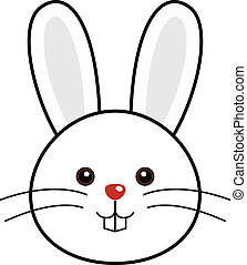 Cute Rabbit Vector - Cute animal faces in One of 25 of them...