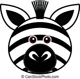 Cute Zebra Vector - Cute animal faces in One of 25 of them...