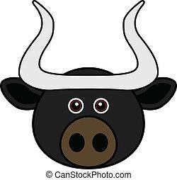 Cute Bull Vector