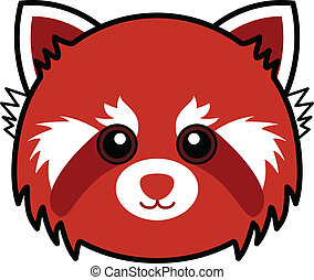Cute Red Panda Vector - Cute animal faces in (One of 25 of...