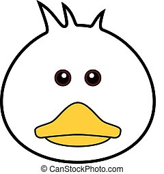 Cute Duck Vector - Cute animal faces in One of 25 of them
