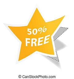 50% free tag
