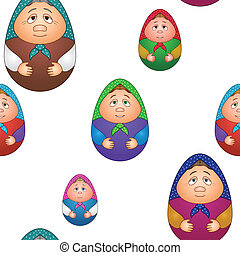 Background, dolls matreshka - Vector seamless background,...