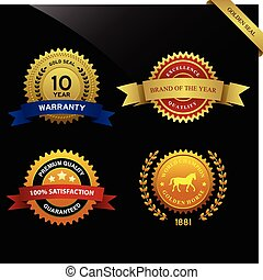 Warranty Guarantee Seal Award - A set of warranty guarantee...