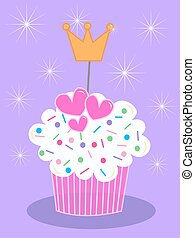 cupcake - celebration card with a cupcake