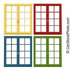 colored wooden window