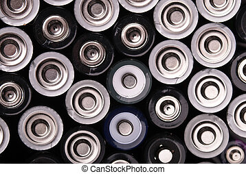 many batteries from above - many batteries are shown from...
