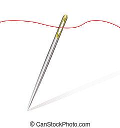 coser, agulha, fio