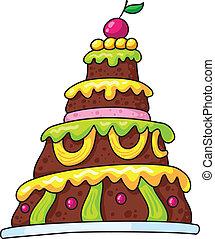 cake - illustration of a large cake