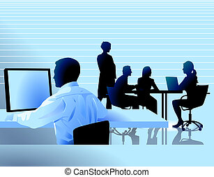 workplace and group discussion