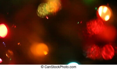 Christmas lights - bright and colorful lights of a Christmas...