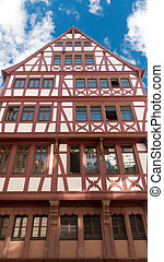 Half timbered house in Frankfurt on Main - Traditional half...
