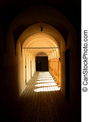 Castle passage - Passage in Seggau castle, Austria