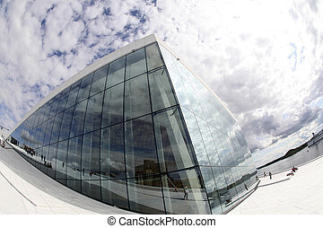 Opera House, Oslo, Norway - Extraordinary wide-angle photo...
