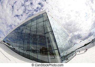 opéra, maison, Oslo, Norvège
