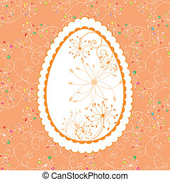 Easter holiday greeting card - Abstract Easter holiday...