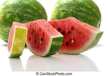 Watermelon - Extreme close-up image of slices of watermelon...
