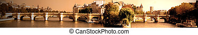 "pont neuf in paris - ""the pont neuf"" a famous bridge in..."