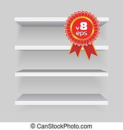 shelves on gray background - Vector shelves on gray...