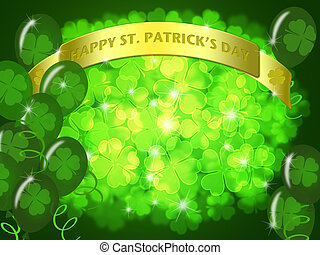 St Patricks Day Two Green Beers Banner Shamrock - St...