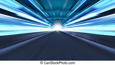 high-speed - Greased light on high-speed highway of night...