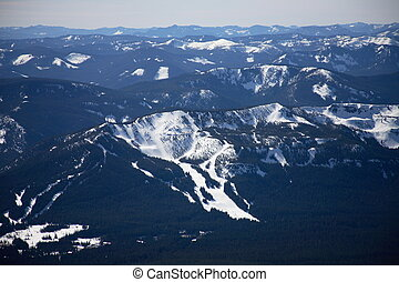 Cascade mountain range as seen f